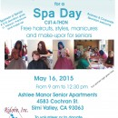 SPA DAY for low income seniors